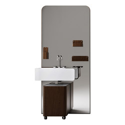 Beauty - Beauty wengè full composition | Vanity units | Olympia Ceramica