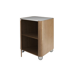 Beauty - Beauty cabinet stool with wheels | Portable storage units | Olympia Ceramica