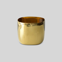 Square Vessel |20 Cm Brass | Bowls | Tina Frey Designs