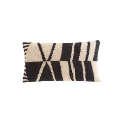 Rustic Chic Geo Cushion 70 Black & White 3 | Coussins | GAN