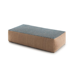Raw Big Pouf Blue 4 | Poufs / Polsterhocker | GAN