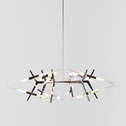 Astral Agnes chandelier 24 lights polished nickel | Allgemeinbeleuchtung | Roll & Hill