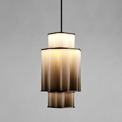 Bauer chandelier 01 white / brown | Suspended lights | Roll & Hill