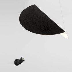 Bounce wall mount lamp black + large shade black | General lighting | Roll & Hill