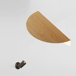 Bounce wall mount lamp bronze + large shade white oak | General lighting | Roll & Hill
