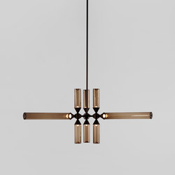 Castle 09-01 (Bronze/Smoke) | Suspended lights | Roll & Hill