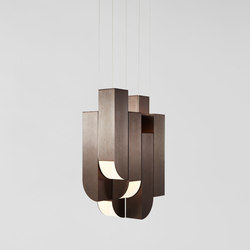 Cora pendant 8 lights bronze | General lighting | Roll & Hill