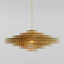 Gridlock Pendant - 4059 (Raw brass) | Suspended lights | Roll & Hill