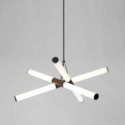 Mini Farrago pendant 02 blackened brass / stained oak | Illuminazione generale | Roll & Hill