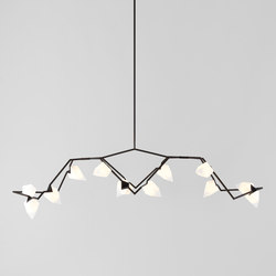Seed 03 (Blackened brass/White) | Suspended lights | Roll & Hill