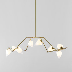 Seed 04 (Brushed brass/White) | Suspended lights | Roll & Hill