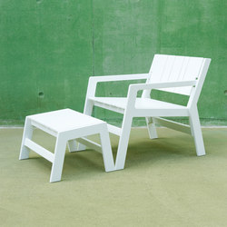 Calcium | Lounge Chair & Ottomane | Gartensessel | Luxxbox