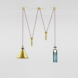 Shape Up double pendant brushed brass | Éclairage général | Roll & Hill