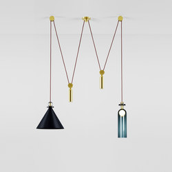 Shape Up double pendant blackened steel | General lighting | Roll & Hill