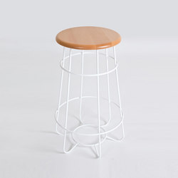 Hoop | Bar Stool | Taburetes de bar | Luxxbox