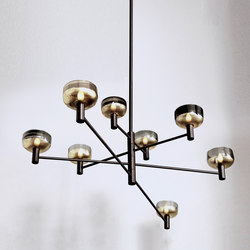 interior lighting. otto luce blackened brass general lighting cartwright new york interior r