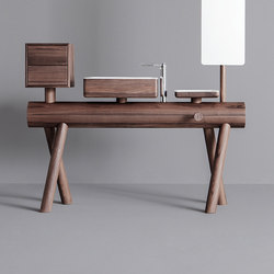 Dressage - Stand alone vanity in solid wood | Meubles sous-lavabo | Graff