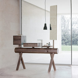 Dressage - Stand alone vanity in solid wood | Vanity units | Graff