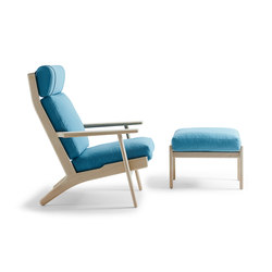 GE 290A High Back Easy Chair with footstool | Sillones | Getama Danmark