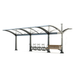 Martina Double Bus Shelter | Bus stop shelters | Bellitalia