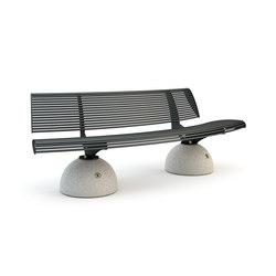 Zebra Convessa Bench | Exterior benches | Bellitalia