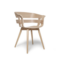 Wick chair | wooden legs oak | Sillas para restaurantes | Design House Stockholm