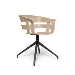 Wick chair | oak seat, black swivel base | Sillas de conferencia | Design House Stockholm