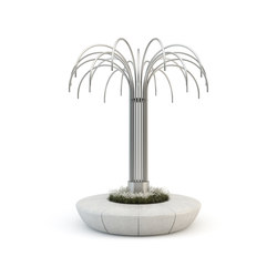 Olimpo Lighting Tree Planter/Bench | Street lights | Bellitalia
