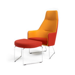 1201 Easy chair high back with footstool | Poltrone lounge | Getama Danmark