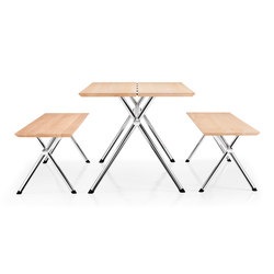 X-Table and Bench | Mesas y bancos | Piiroinen