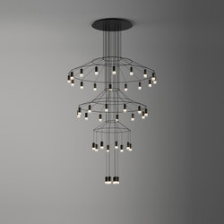 Wireflow Chandelier | Suspended lights | Vibia