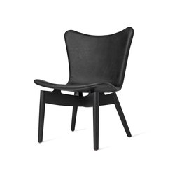 Shell Lounge Chair - Dunes Anthrazit - Black Oak | Poltrone | Mater