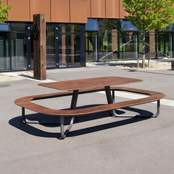 #177 Plateau | Bancs avec tables | out-sider