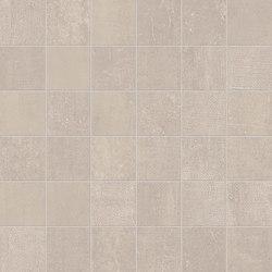 Gesso Mosaico 5X5 Taupe Linen | Ceramic mosaics | EMILGROUP