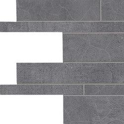 Gesso Listelli Sfalsati Black Velvet | Keramik Mosaike | EMILGROUP