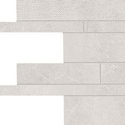 Gesso Listelli Sfalsati Natural White | Ceramic mosaics | EMILGROUP