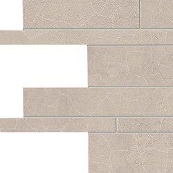 Gesso Listelli Sfalsati Taupe Linen | Ceramic mosaics | EMILGROUP