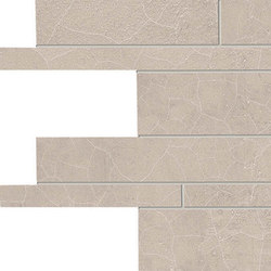 Gesso Listelli Sfalsati Taupe Linen | Mosaics | EMILGROUP