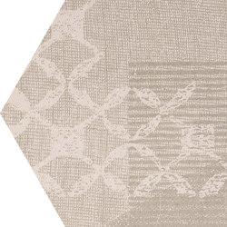 Gesso Esagona Patchwork Taupe Linen | Ceramic mosaics | EMILGROUP