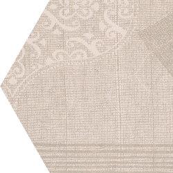 Gesso Esagona Patchwork Taupe Linen | Mosaici ceramica | EMILGROUP