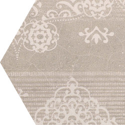 Gesso Esagona Patchwork Taupe Linen | Keramik Mosaike | EMILGROUP