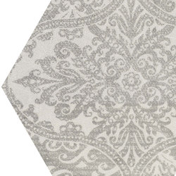 Gesso Esagona Patchwork Pearl Grey | Ceramic mosaics | EMILGROUP