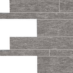 Metal.It Listelli Sfalsati Black Nickel | Ceramic mosaics | EMILGROUP