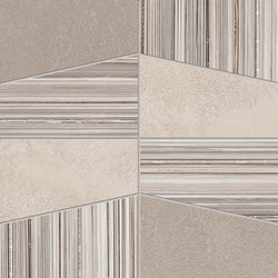 +3 Decoro Tetra Bianco-Sabbia-Paper Bianco | Piastrelle ceramica | EMILGROUP