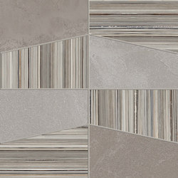 +3 Decoro Tetra Grigio-Tortora-Paper Grigio | Baldosas de cerámica | EMILGROUP