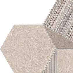 +3 Decoro Esagona Bianco-Sabbia-Paper Bianco | Mosaici | EMILGROUP