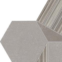 +3 Decoro Esagona Grigio-Tortora-Paper Grigio | Mosaicos de cerámica | EMILGROUP