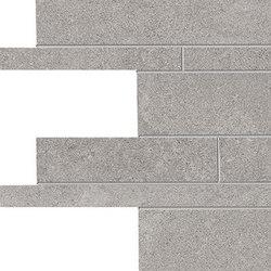 Stone Project Controfalda Mosaico Listelli Sfalsati Grey | Mosaics | EMILGROUP