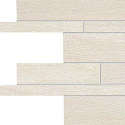Stone Project Controfalda Mosaico Listelli Sfalsati White | Mosaici ceramica | EMILGROUP