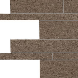 Stone Project Controfalda Mosaico Listelli Sfalsati Brown | Ceramic mosaics | EMILGROUP